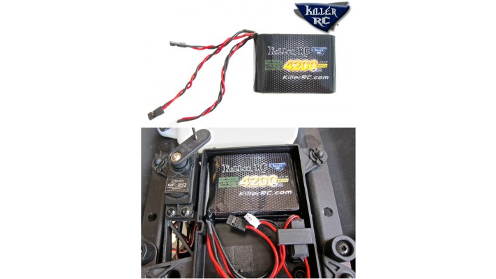 Bt296 - Batterie Killer RC 7.4v 4200mAh RX LiPo