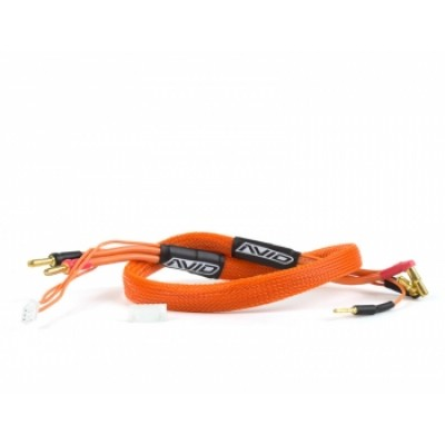 2S Charge Lead Cable w/4mm & 5mm Bullet Connector (2') | ORANGE