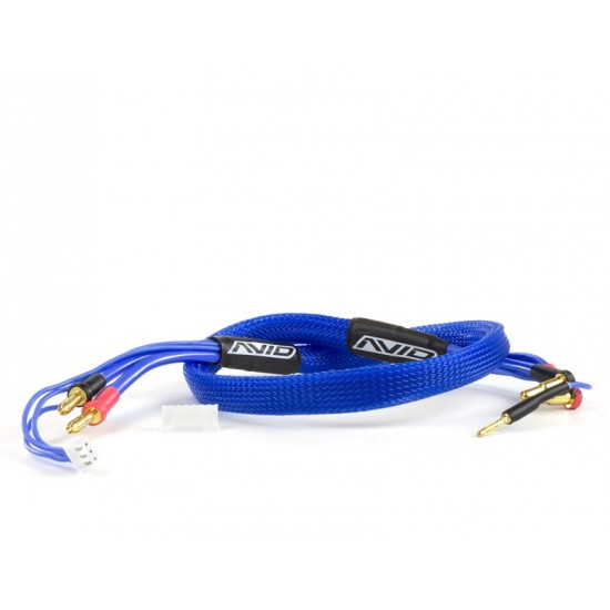 2S Charge Lead Cable w/4mm & 5mm Bullet Connector (2') | BLEU