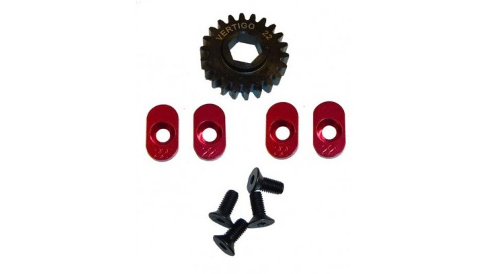 sm191/22t - Vertigo 22T Gear Adjusting Inserts w22/t Hex Drive Gear for Losi 5ive