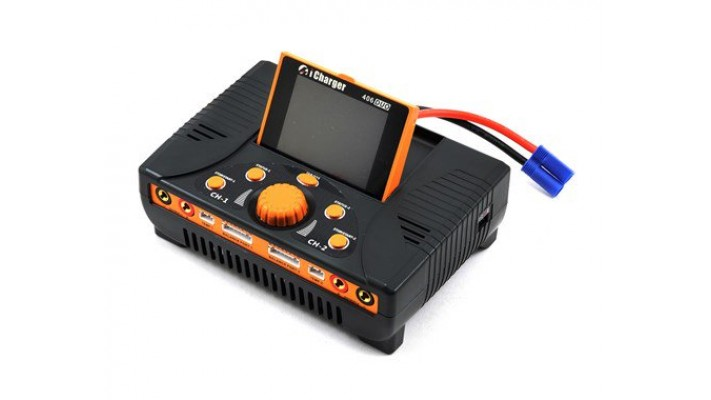 Chargeur de batterie Junsi iCharger 406DUO Lilo / LiPo / Life / NiMH / NiCD DC (6S / 40A / 1400W)