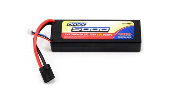 DuraTrax Onyx 2S boitier dure LiPo 25C traxxas (7.4V / 5000mAh)