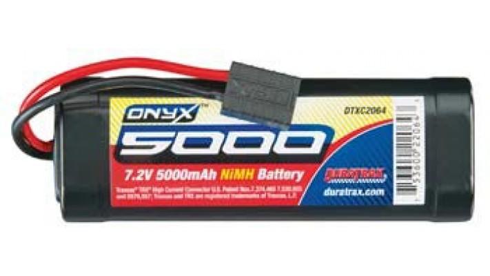 DuraTrax Onyx 6-Cell NiMH batterie avec connecteur traxxas (7.2V / 5000mAh)