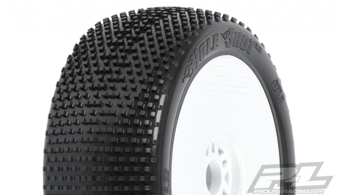 Pro-Line Hole Shot 2.0 Pre-Mounted 1/8 Buggy Tires (2) (White)