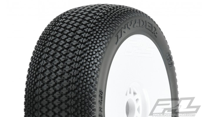 Pro-Line Invader Pre-Mounted 1/8 Buggy Tires (White) (2)