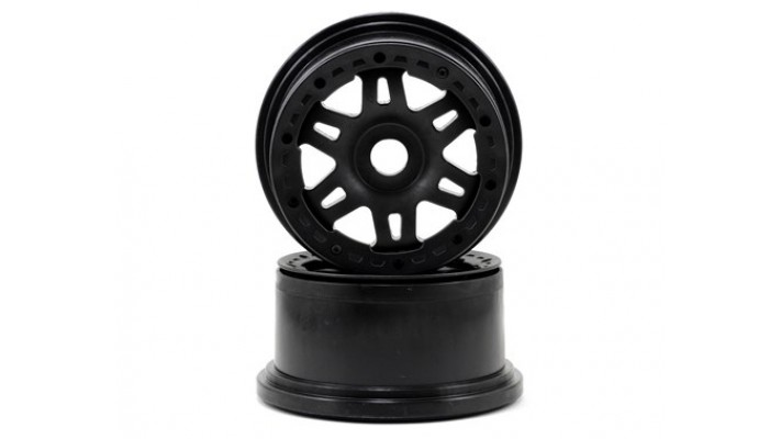 Pro-Line Split Six Bead-Loc Rear Wheels (Baja 5T) (2) (Black/Black)