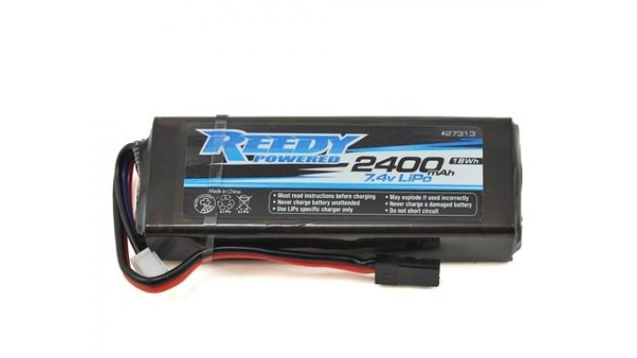 batterie Reedy2S plat LiPo Récepteur (7.4V / 2400mAh)