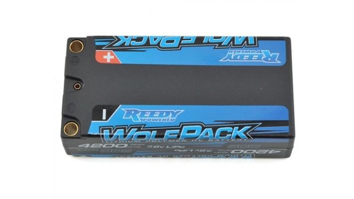 Reedy WolfPack HV 2S LiPo boitier rigide 50C court  Batterrie (7.6V / 4200mAh) 4mm