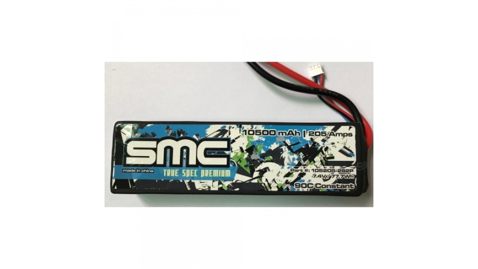 True Spec Premium 7.4V 10500mAh 205Amps/90C with G10 plates