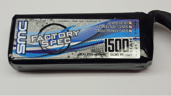 Usine Spec 11.1V 1500mAh 40C Traxxas Mini 1/16th