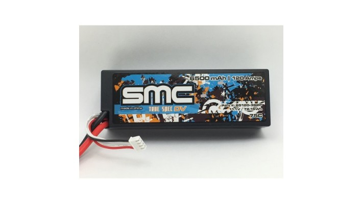True Spec DV 11.1V 6500mAh 120Amps/75C wired hardcase