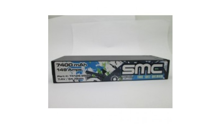 True Spec Premium 7.4V 7400mAh 149 Amps/90C 5mm Inboard