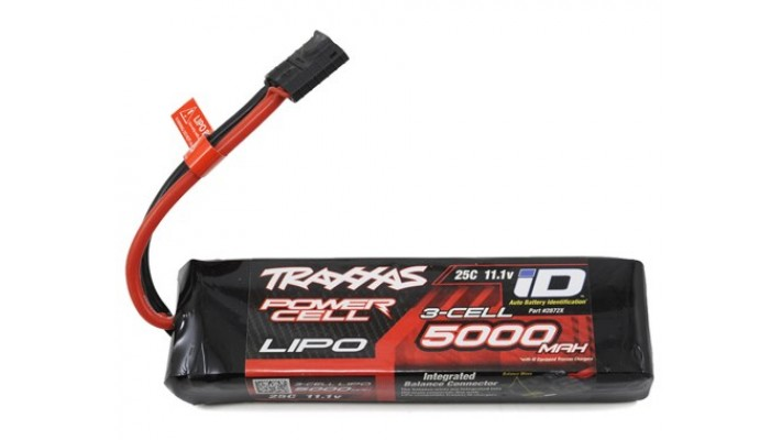"Traxxas 3S ""Power Cell"" 25C LiPo Batterie w/iD Traxxas Connecteur (11.1V/5000mAh)"