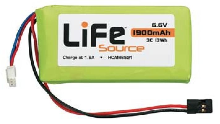 LiFeSource LiFe 6.6V 1900mAh 3C Tx/Rx U Conn 4PK