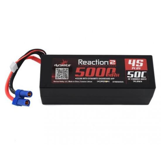 Batterie LiPo à boîtier rigide Dynamite Reaction 4S 50C avec EC5 (14.8V / 5000mAh)