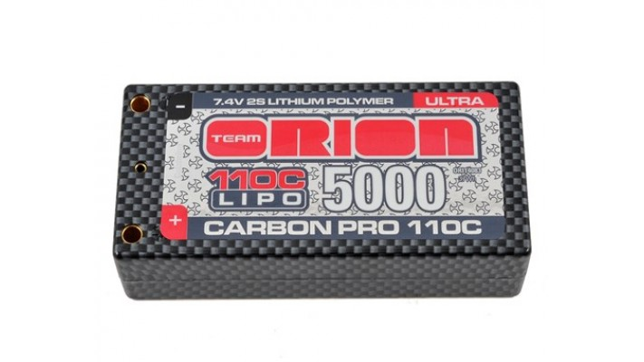 Team Orion 2S Carbon Pro Ultra 110C Batterie LiPo Shorty (7.4V / 5000mAh)