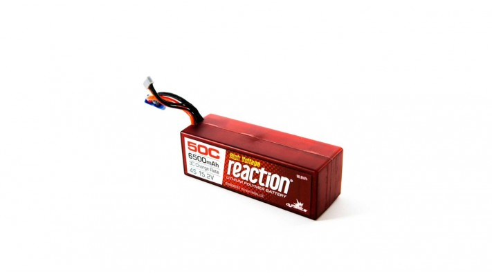Reaction HV HD 15.2V 6500mAh 50C 4S LiPo, boitier rigide