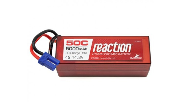 Dynamite Reaction 4S 50C Batterie LiPo avec EC5 (14.8V / 5000mAh)