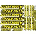 AE TEAM DECALS YELLOW FLUO
