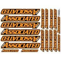 AE Team Decals Orange Fluo