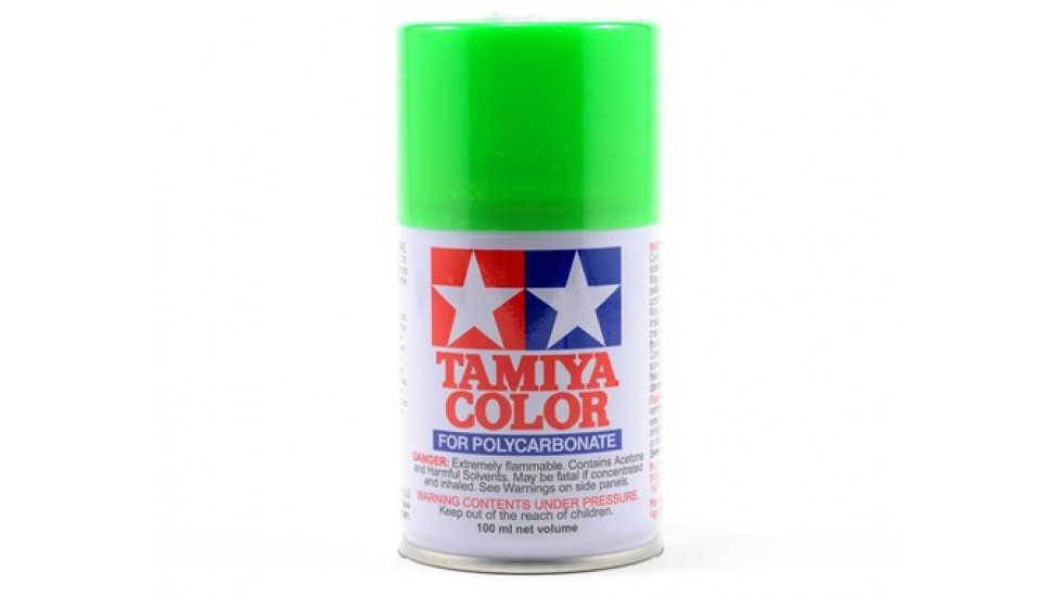 Peinture en aérosol de Lexan Tamiya PS-28 Vert Fluorescent (3oz)
