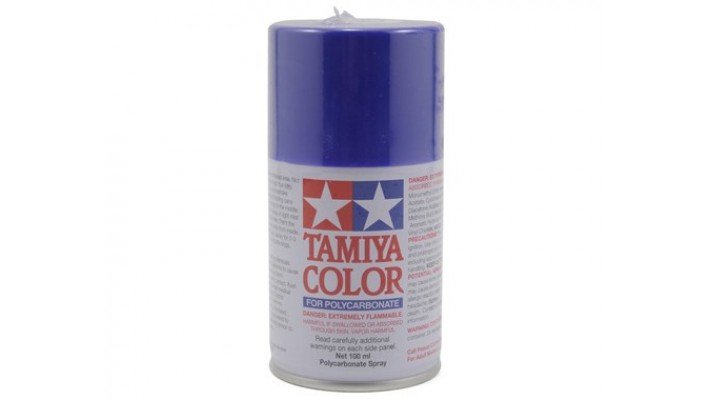 Peinture en aérosol de Lexan bleu violet Tamiya PS-35 (3 oz)