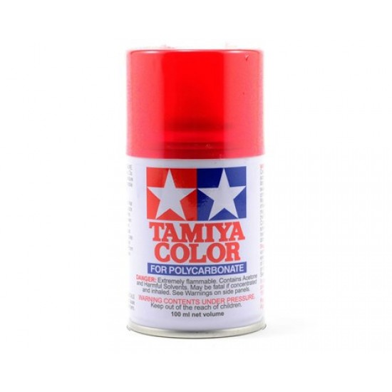 Peinture aérosol de Lexan Tamiya PS-37 rouge translucide (3oz)