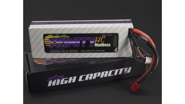 MudBoss Carbone Trinity LiPo Blanc 2S 7.4V 5200mAh